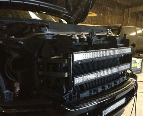 single 40 led light bar with dual grille mount for ford