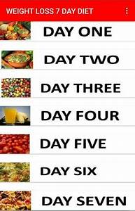 Weight Loss 7 Day Diet Plan For Android