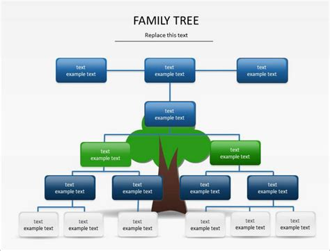 family tree template powerpoint  bountrinfo