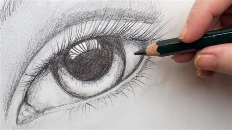 realistic eye step  step pencil drawing  paper