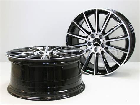 mercedes genuine  class amg     silver black rims  set  ebay