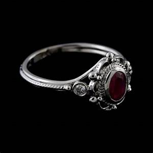 victorian style reproduction diamond oval ruby engagement With victorian style wedding rings