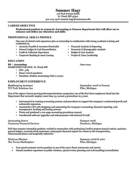 Resume For Unit by Resume Exles Sle 1 Larger Image Things To Wear Resume