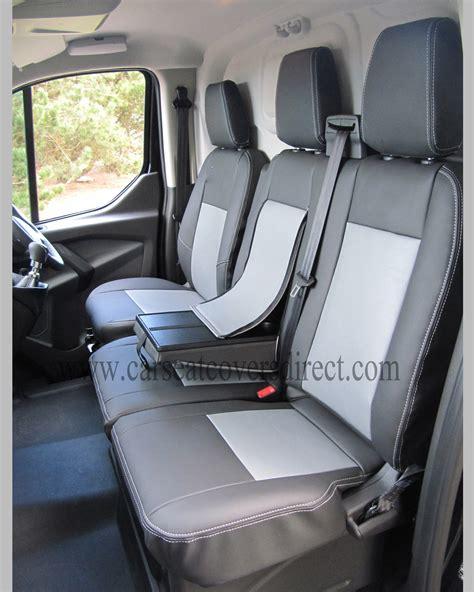 ford transit custom  gen black grey van seat covers