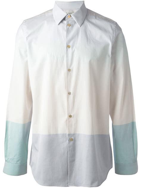 paul smith pastel shirt  blue  men lyst