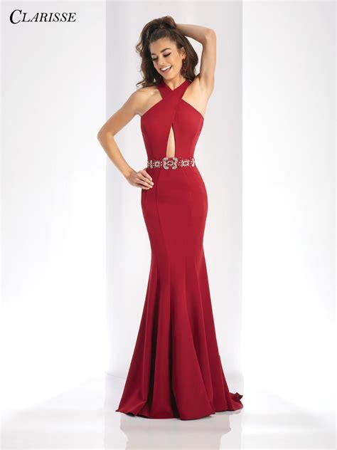 clarisse  keyhole knit prom dress french novelty