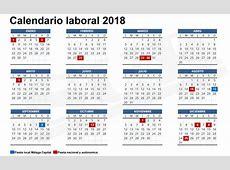 Festivos, puentes y macropuentes de 2018 Calendario