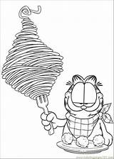 Spaghetti Coloring Garfield Coloringpages101 sketch template