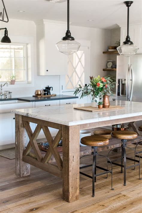 picture of kitchen islands custom kitchen island built from barnwood with marble