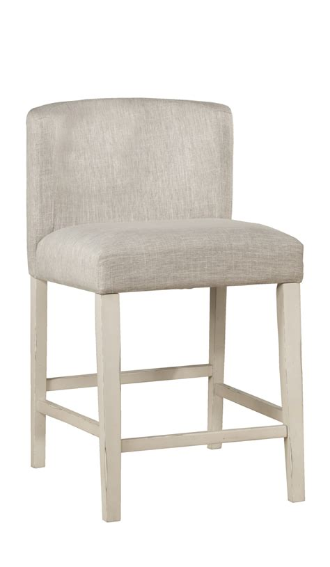 clarion wing arm  swivel counter height stool sea white