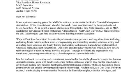 financial banker cover letter investment banking prep cover letters
