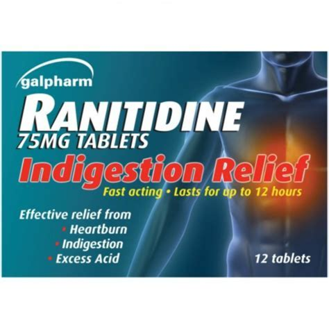 GALPHARM RANITIDINE INDIGESTION RELIEF 12 TABLETS