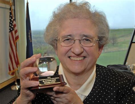 sister angel wins post secondary outstanding teacher