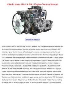 Hitachi Isuzu 4hk1 6hk1 Engine Service Manual By Royrapp