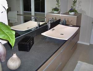 plan de vasque salles de bain par mineral societe With salle de bain design avec plan vasque salle de bain sur mesure