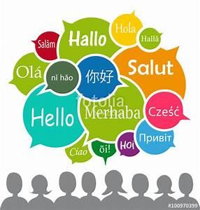 QuotHallo In Verschiedenen Sprachen Vektorquot Stockfotos Und