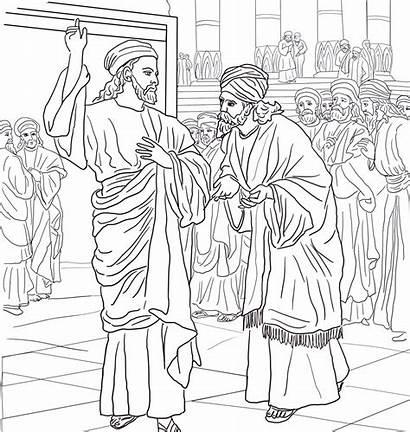 Mark Coloring Jesus Question Pharisees Luke Beware
