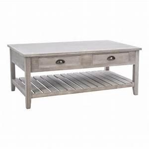 Table Basse Campagne Chic : table basse campagne bois table eminza ~ Teatrodelosmanantiales.com Idées de Décoration