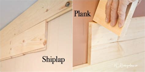How To Make A Shiplap Joint - diy shiplap vs planked wood walls h2obungalow