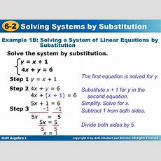 Solving Equations By Substitution Tessshebaylo