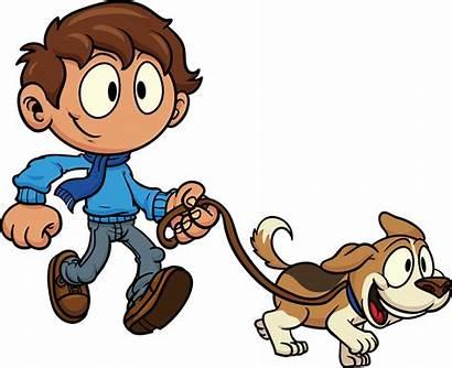 Clip Dogs Clipart Walking Kid Dog Clipartix