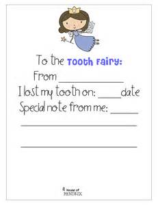Printable Note From Tooth Fairy