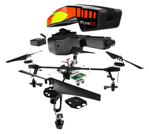 ardrone drone quadricopter parrot wifi spare parts