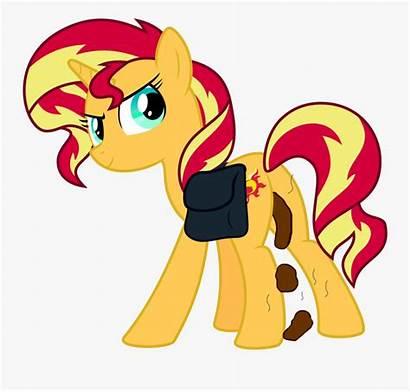 Pony Poop Clipart Unicorn Shimmer Sunset Mlp