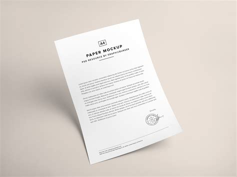 paper psd mockup graphicburger