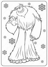 Coloring Yeti Pages Printable Bigfoot Pdf Outline Tales Ladybug Miraculous Whatsapp Tweet Email sketch template