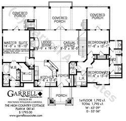High Country Cottage House Plan 08141 Garrell Associates