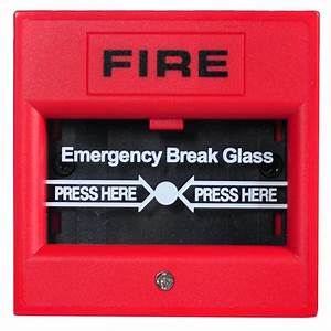 Glass Broken Button 2 Wire Conventional Manual Call Point Fire Alarm System Conventional Panel