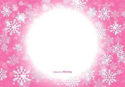 Silver Pink Snowflake Background by Beautiful Pink Snowflake Background