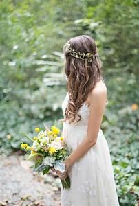 Wedding Hair Floral Crownwedding Hair With Flower Crown
