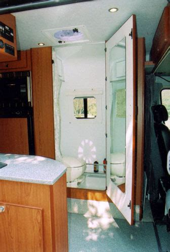 designing  custom camper van conversion baths