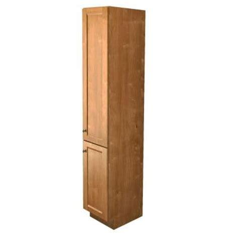 kraftmaid 15 in w vanity linen cabinet in praline stain vlc152188r s 3015sn the home depot