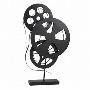 Objet Deco Cinema : d co bobines en m tal noir h 71 cm septieme art maisons du monde ~ Melissatoandfro.com Idées de Décoration