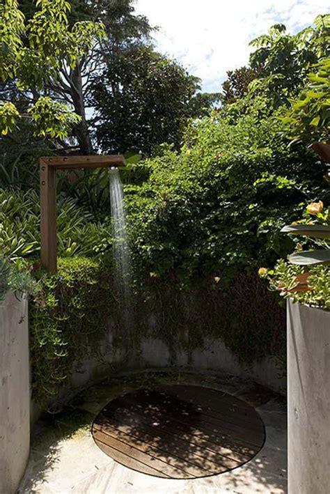 irresistible outdoor shower designs   garden