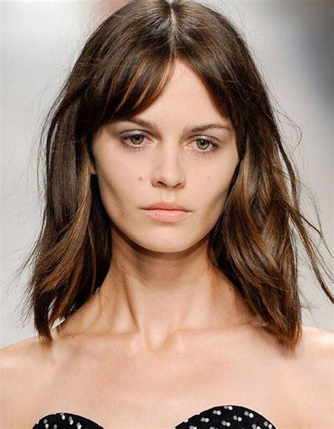 Coupe mi long degrade avec frange mode coiffure femme   Coiffure institut