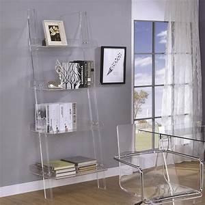 Amaturo Acrylic Ladder Bookcase