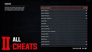All 37 Cheats How To Enter All Cheat Codes Red Dead