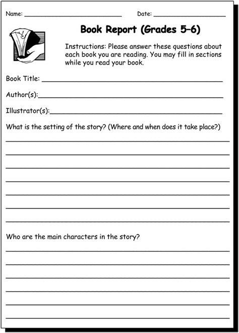 book report   writing practice worksheet
