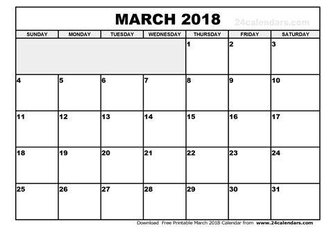 calendar template march 2018 march 2018 calendar pdf calendar printable free