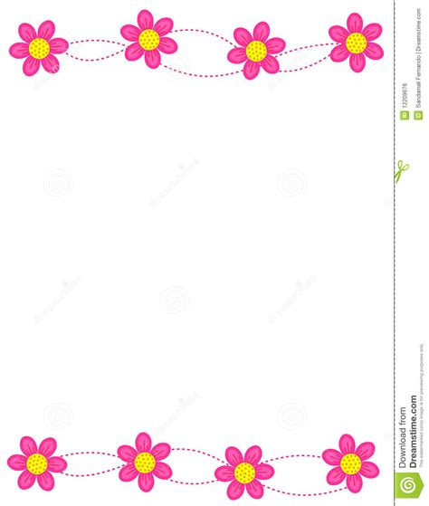 pink thank you cards floral border frame stock vector illustration of