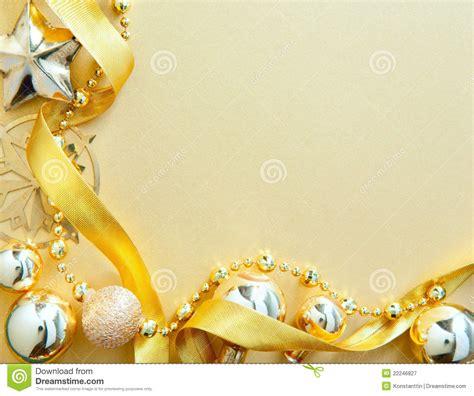 christmas greeting card  golden tree decor stock image