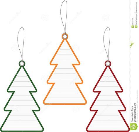 christmas tree price tag royalty free stock photo image