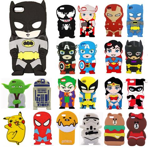 3d Cute Cartoon Silicone Soft Skin Back Case Cover For