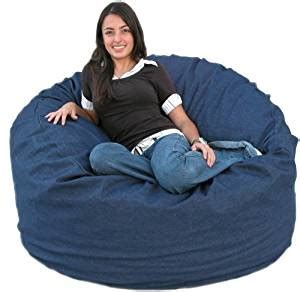 cozy sack 4 bean bag chair large denim co
