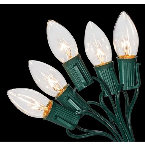 home depot christmas lights home accents holiday c9 25 light clear color incandescent