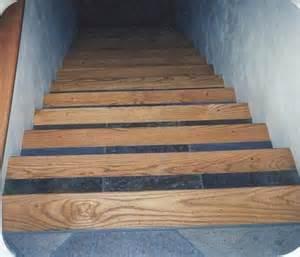 wood stair treads tile inlay kendall s custom wood